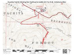 Ouachita Mountains Map Ouachita Trail 02 Winding Stair Th To Highpoint To Saddle 23 7