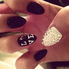 football nails just not rounded nails pinterest football