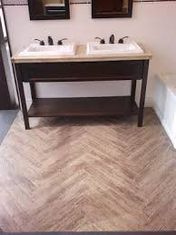 luxurius faux wood tile in bathroom on interior home design