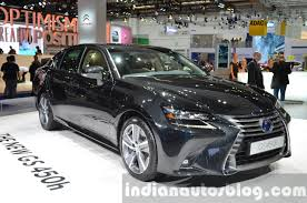 lexus hybrid 2016 2016 lexus gs 450h facelift front three quarter right at iaa