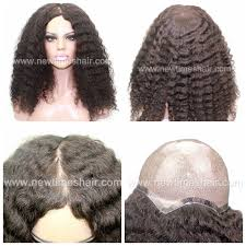 hair pieces for crown area human hair silicone injected african american women wig
