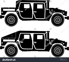 jeep off road silhouette military hummer silhouettes standard h1 stock vector 28324444