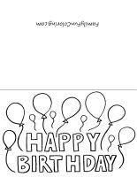printable birthday cards that you can color free printable birthday cards k s korner pinterest free