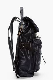 marni midnight purple textured leather backpack in black for men