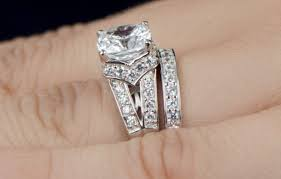 bridal ring sets canada ring acceptable cubic zirconia wedding ring sets in canada