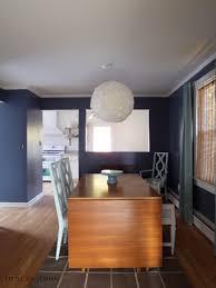 a new dark dining room