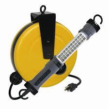 retractable kitchen light led retractable reel work auto shop repair light 300 lumen alert