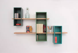 wall mounted shelf contemporary mdf beech max by olivier