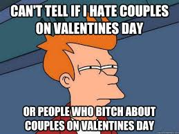 I Hate Valentines Day Meme - can t tell if i hate couples on valentines day or people who bitch