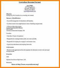 Resume For Custodian Custodian Resume Sample Janitor Sample Resume Sample Cv