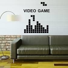 cartoon tetris video game diy vinyl wall stickers for kids rooms