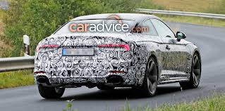 2018 audi rs5 coupe spied with less camouflage update photos