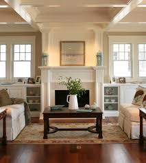 Bookshelves Around Window Fire Places Beach Style Living Room Philadelphia By Asher