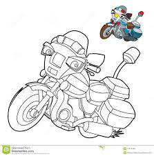 cartoon motorcycle illustration for the children stock