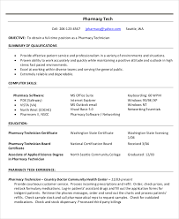 Pharmacy Technician Job Duties Resume by Technician Resume Template 5 Free Word Pdf Documents Download