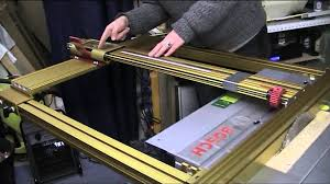Bosch Saw Bench Part 14 Fitting The Incra Table Saw Fence To A Bosch Pts 10