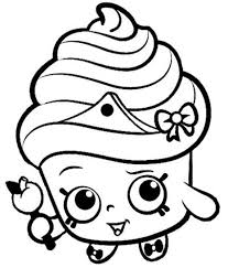 cupcake coloring pages to print print cake wishes shopkins season 1 from coloring pages cooki