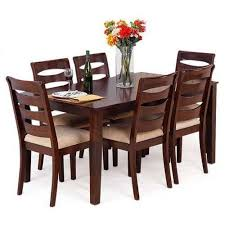 six seater dining table six seater dining table at rs 32000 set wooden dining table id