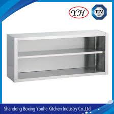 wall mounted kitchen storage cupboards china stainless steel open wall mount storage cupboard