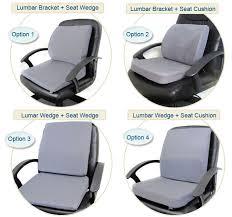 posture aid lumbar back support memory foam seat cushion packs