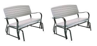 Lifetime Glider Bench Lifetime Indoor Outdoor Glider Bench 4 Feet Putty 2 Benches