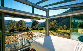stay in an all glass cabin in new zealand and become one with