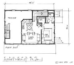 Apartment Building Blueprints by Floor Plan For Small 1200 Sf House With 3 Bedrooms And 2 Amazing