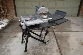 Ridgid Table Saw Review Bosch Tc10 Tile Saw Review Pro Tool Reviews