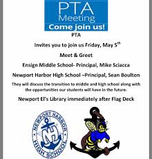 pta meeting invitation newport elementary home facebook