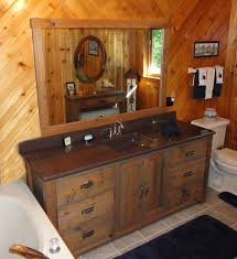 Pine Bathroom Furniture Rustic Lodge Log And Timber Furniture Handcrafted From Green