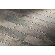 Floor Tiles by Shop Style Selections Ivetta Black Slate Glazed Porcelain Indoor