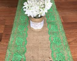 emerald green table runners emerald table runner etsy