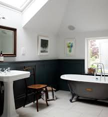 bathroom ideas with clawfoot tub bathroom clawfoot tub with white sink and black wainscoting plus