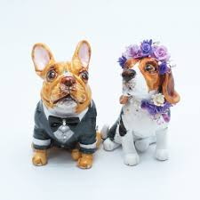 bulldog cake topper madamepommcustomorder bulldog and beagle wedding cake topper