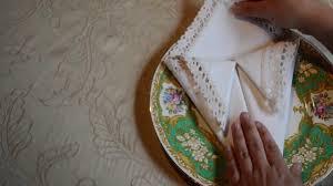 napkin folding for thanksgiving dinner how to fold a cornucopia napkin youtube