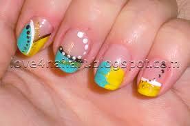 love4nailart abstract nail art tutorial spring colors