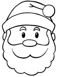 santa face colouring pages 3 clip art library