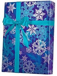 metallic gift wrap snowflake swirl metallic wrapping paper wrap roll 24