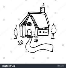 house outline vector illustration stock vector 96738430 shutterstock