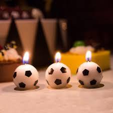happy birthday candle aliexpress buy 3pcs set football shape happy birthday candle