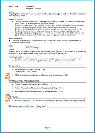 sample of a resume for a job example of a good cv finance and accounting cv page 2