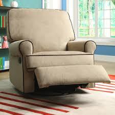 chloe sand fabric nursery swivel glider recliner chair brown