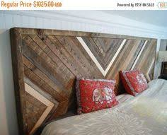 Barn Wood Headboard Reclaimed Wood Chevron Style Headboard Bed Furniture So