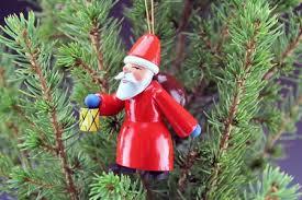 santa with lantern german tree ornament