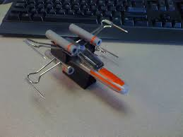 x wing fighter from office supplies 6 steps with pictures