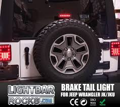 jk jeep 3rd led replacement brake light for 07 17 jk jeep wrangler black