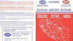 adresse si e air airline memorabilia air yugoslavia 1989 alemania