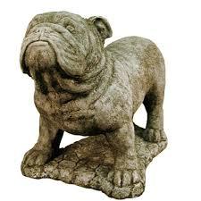 statue lawn ornament animal statue bulldog 11h x 14l x 9 w