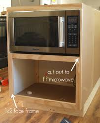 Toaster Oven Under Counter Building A Custom Microwave Cabinet Simply Swider
