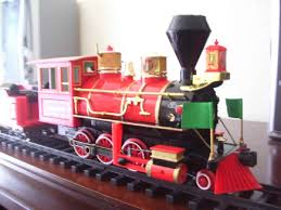 christmas tree train set puffing smoke best images collections